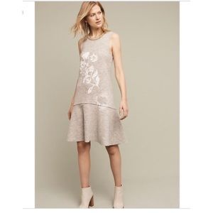 Knitted and Knotted Wool Flounce Hem Dress
